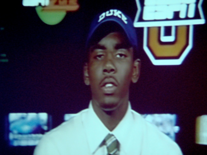 Kyrie reps Duke after making his decision.